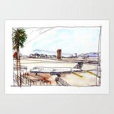 Landing in California Art Print