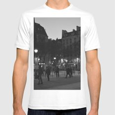 Paris White Mens Fitted Tee SMALL