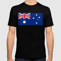 Australian flag - Authentic version Mens Fitted Tee Black SMALL