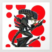 URBNPOP Aliens Attack Art Print