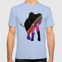 Elizabeth Mens Fitted Tee Tri-Blue SMALL