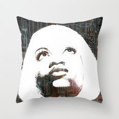 Blonde Diva Throw Pillow