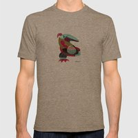 Bird Mens Fitted Tee Tri-Coffee SMALL