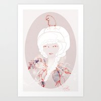 Portrait With Chick Art Print