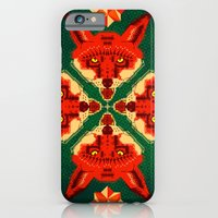 iPhone & iPod Case featuring Fox Cross geometric pattern by chobopop