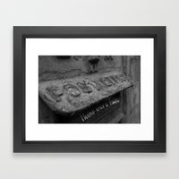There was a Time... Framed Art Print