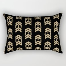 Chevron in bold colors black and gold glitter pattern print  Rectangular Pillow