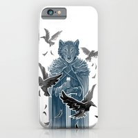 iPhone & iPod Case featuring Wolf And Ravens by Patrick Zedouard c0y0te7
