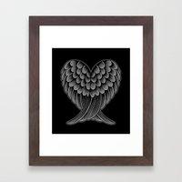 Heart Wings [Reversed Version] Framed Art Print