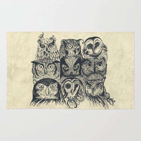 Nine Owls Area & Throw Rug