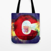 Colorado Flag/Galaxy Pri… Tote Bag