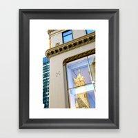 New York Reflection Framed Art Print