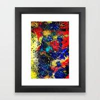 Paint Splash Dark Framed Art Print
