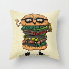 Geek Burger v.2 Throw Pillow