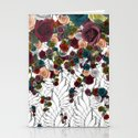 falling flowers Stationery Cards