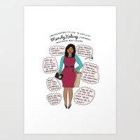 Mindy Kaling The Imagina… Art Print