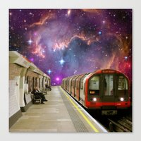 Sitting, Waiting, Wishing - London Tube Series Canvas Print