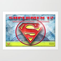 Supermen 12 The Lifting of the veil Art Print