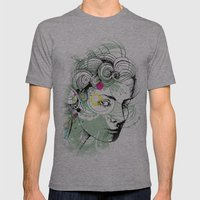 floral girl Mens Fitted Tee Athletic Grey SMALL