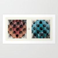 ANALOG ZINE - Down Is Th… Art Print