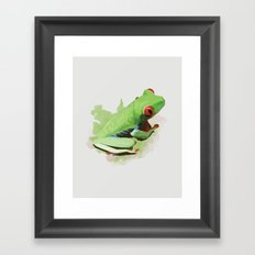 Red Eye Framed Art Print