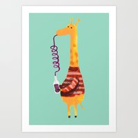 Crazy Straw Art Print