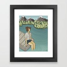 Lake Time Framed Art Print