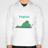 Virginia Map Hoody