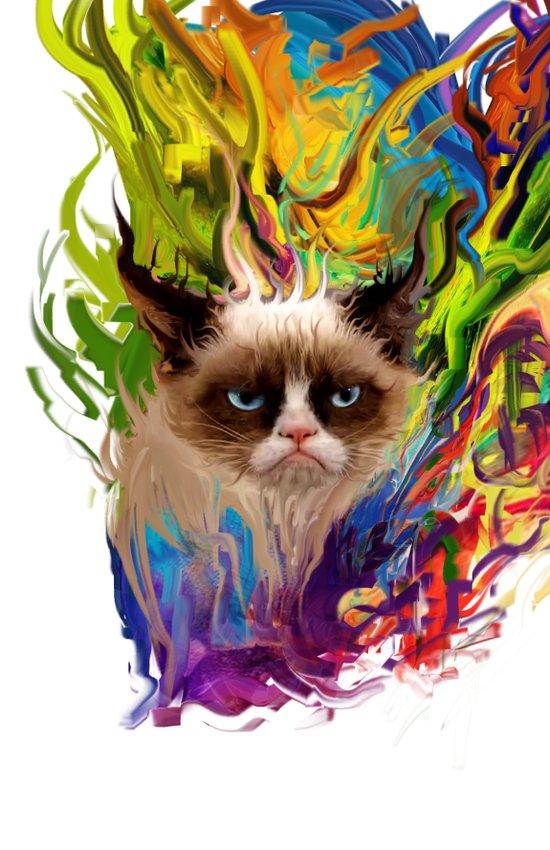 grumpys rich inner world Art Print