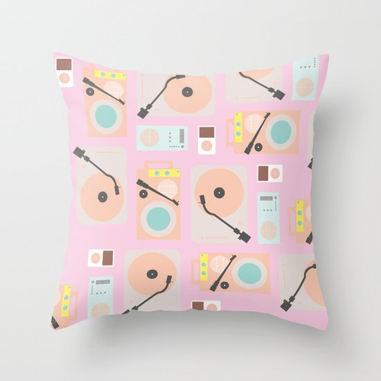 Music Lover Pastel Throw Pillow