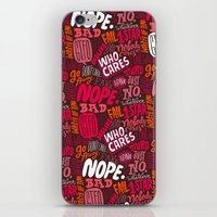 Rude Pattern iPhone & iPod Skin