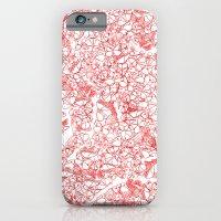 Red butterflies iPhone 6 Slim Case