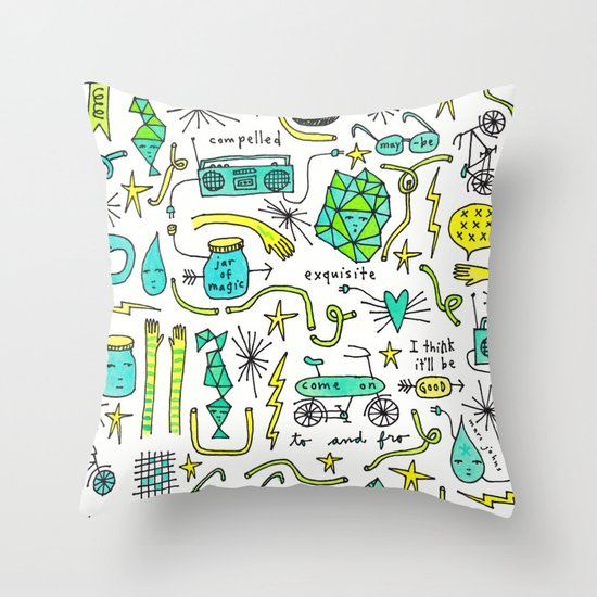 to and fro Throw Pillow