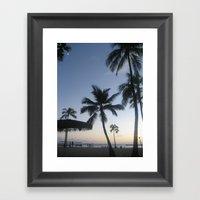 Blue Hawaiian Sunset Framed Art Print