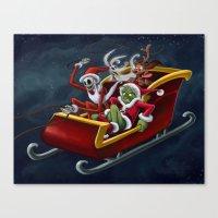 Christmas Hijackers Canvas Print