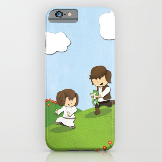 SW Kids - Han Chasing Leia iPhone & iPod Case