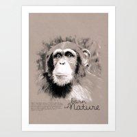 Chimpanzee (BornInNature) Art Print