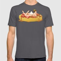Waffle Girl Mens Fitted Tee Asphalt SMALL
