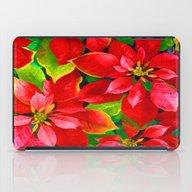 Christmas Poinsettia iPad Case