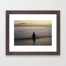 where time becomes Framed Art Print