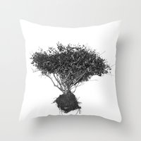 Floating Shrubbery Throw Pillow