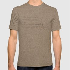 Elizabethtown Quote Mens Fitted Tee Tri-Coffee SMALL