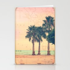 Peach and Grapefruit Sunset on Boardwalk Stationery Cards