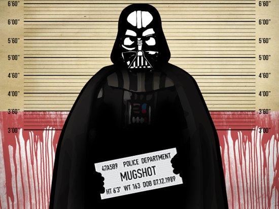 Vader Mug Shot Canvas Print