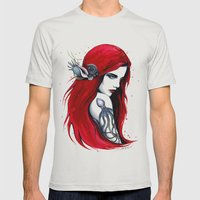 -City Ariel- Mens Fitted Tee Silver SMALL