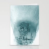 Robot In Blue Stationery Cards