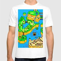 Mario World '84 Mens Fitted Tee White SMALL