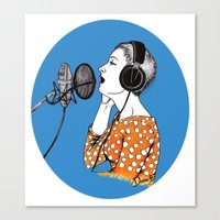 SINGING  Canvas Print
