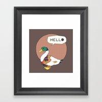 Mr duck Framed Art Print