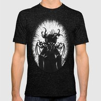 House In R'lyeh, Interio… Mens Fitted Tee Tri-Black SMALL